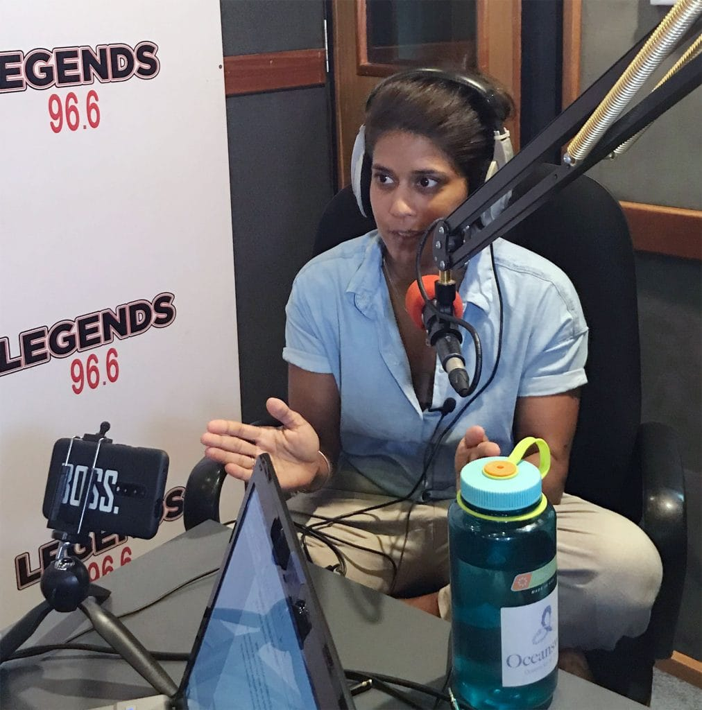 Dr. Asha chats to CJ on Legends 96.6FM 1