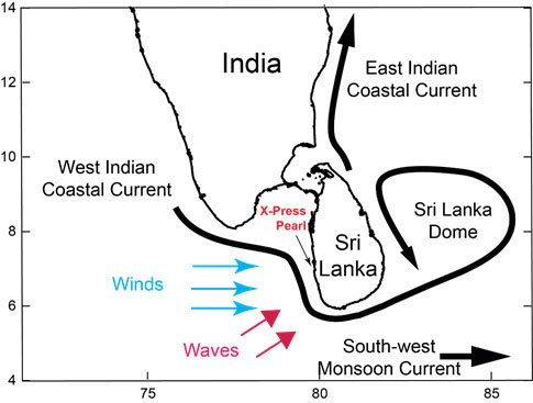 X-Press Pearl incident in Sri Lanka: an oceanographic perspective 1